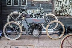 ZAGREB, CHORWACJA †'Listopad 14 2016: szczegół Harley pierwowzór Fotografia Royalty Free