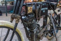 ZAGREB, CHORWACJA †'Listopad 14 2016: szczegół Harley pierwowzór Zdjęcia Royalty Free