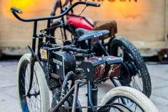 ZAGREB, CHORWACJA †'Listopad 14 2016: szczegół Harley pierwowzór Zdjęcie Royalty Free