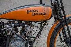 ZAGREB, CHORWACJA †'Listopad 14 2016: Harley Davidson prototipe Obrazy Royalty Free