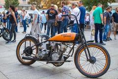 ZAGREB, CHORWACJA †'Listopad 14 2016: Harley Davidson przedstawienie Zdjęcie Stock