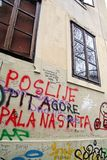 Zagreb, Chorwacja, graffitti, stary miasto, 2 Obraz Stock