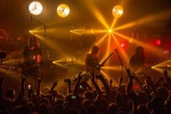 Zagreb, CHORWACJA - hala targowa 23, 2017: Dzieci Bodom, koncert w T Obrazy Royalty Free