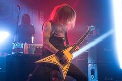Zagreb, CHORWACJA - hala targowa 23, 2017: Dzieci Bodom, koncert w T Zdjęcie Royalty Free