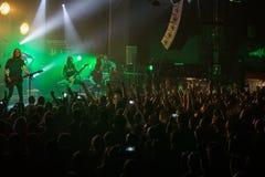 Zagreb, CHORWACJA - hala targowa 23, 2017: Dzieci Bodom, koncert w T Zdjęcia Royalty Free