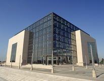 ZAGREB CHORWACJA, LISTOPAD, - 2009: Chorwacka biblioteka uniwersytecka i obywatel zdjęcie royalty free