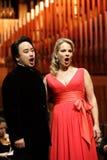 Elina Garanca trzymał koncert w filharmonii Lisinski. Zdjęcia Stock