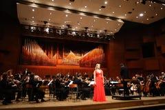 Elina Garanca trzymał koncert w filharmonii Lisinski. Zdjęcie Stock