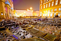 Zagreb city center bronze model Stock Images