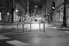 Zagreb city centre street. Croatiafulloflife myproshot bnw zagreb croatia #whataboutcroatia explorer city night after rain architecture building culture center Stock Photo