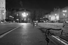 Zagreb city centre street. Croatiafulloflife myproshot bnw zagreb croatia #whataboutcroatia explorer city night after rain architecture building culture center royalty free stock photography