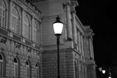Zagreb city centre street. Croatiafulloflife myproshot bnw zagreb croatia #whataboutcroatia explorer city night after rain architecture building culture center royalty free stock photos