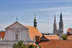 Zagreb cityscape royalty free stock image