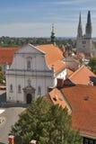 Zagreb cityscape stock photo