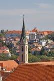 Zagreb cityscape Stock Photography