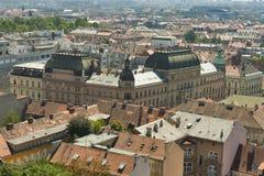 Zagreb cityscape royalty free stock photos