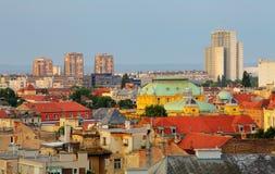 Zagreb cityspace royalty-vrije stock foto's