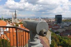 Zagreb cityspace Arkivfoton