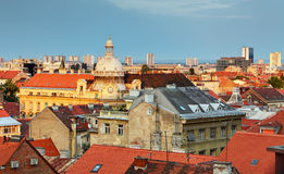Zagreb cityspace Stock Image