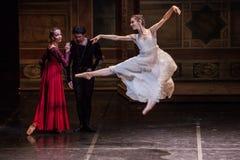 ZAGREB, CROÁCIA - 15 de fevereiro 2018 Romeo e Juliet Ballet perto imagem de stock