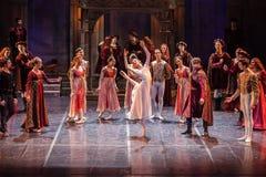 ZAGREB, CROÁCIA - 15 de fevereiro 2018 Romeo e Juliet Ballet perto imagem de stock royalty free