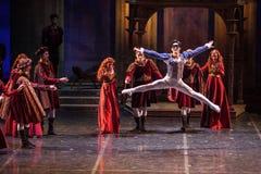 ZAGREB, CROÁCIA - 15 de fevereiro 2018 Romeo e Juliet Ballet perto fotos de stock royalty free