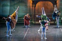ZAGREB, CROÁCIA - 15 de fevereiro 2018 Romeo e Juliet Ballet perto fotografia de stock