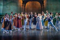 ZAGREB, CROÁCIA - 15 de fevereiro 2018 Romeo e Juliet Ballet perto fotos de stock