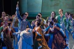 ZAGREB, CROÁCIA - 15 de fevereiro 2018 Romeo e Juliet Ballet perto imagens de stock