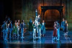 ZAGREB, CROÁCIA - 15 de fevereiro 2018 Romeo e Juliet Ballet perto fotografia de stock royalty free