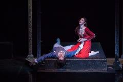 ZAGREB, CROÁCIA - 15 de fevereiro 2018 Romeo e Juliet Ballet perto foto de stock royalty free