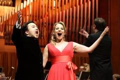 Elina Garanca llevó a cabo un concierto en la sala de conciertos Lisinski. Imagen de archivo libre de regalías