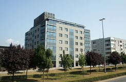 Zagreb, Croacia - 07/19/2015 - edificios modernos, arquitectura hermosa fotos de archivo libres de regalías