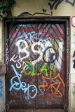 Zagreb, Croacia, graffitti, ciudad vieja, 1 Fotografía de archivo libre de regalías