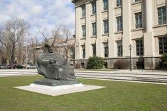 ZAGREB, CROACIA - MARZO DE 2015: Estatua del escritor croata famoso Marko Marulic Imágenes de archivo libres de regalías