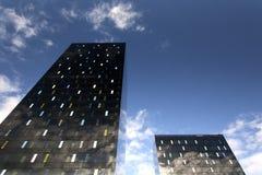 ZAGREB, CROACIA - OCTUBRE DE 2014: Rascacielos negros en Zagreb Imagen de archivo libre de regalías