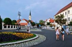 Zagreb, Croacia, vista al monasterio franciscano de St Francis de Assisi foto de archivo libre de regalías