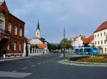 Zagreb, Croacia, vista al monasterio franciscano de St Francis de Assisi fotos de archivo libres de regalías