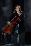 Zagreb, CROATIA – April 3, 2017: Finnish band Apocalyptica pla Royalty Free Stock Images
