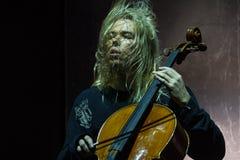 Zagreb, CROATIA – April 3, 2017: Finnish band Apocalyptica pla Stock Images