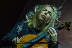 Zagreb, CROATIA – April 3, 2017: Finnish band Apocalyptica pla Stock Image