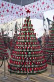 Detail of a decoration at Christmas Market in the city of Zagreb, Croatia royalty free stock photo