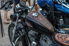 ZAGREB, CROATIA – November 14. 2016: Harley Davidson prototipe. Discovery channel presentation of TV show Harley and the Davidsons with retro and historic Royalty Free Stock Photography