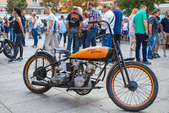 ZAGREB, CROATIA – November 14. 2016: Harley Davidson show. Discovery channel presentation of TV show Harley and the Davidsons with retro and historic motor Stock Photo