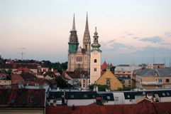 Zagreb - Croatia. Capital of Croatia, Zagreb Royalty Free Stock Photography