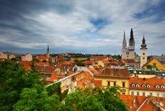 Zagreb. Croatia. Cityscape view of Zagreb; Croatia Stock Photo