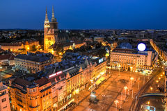 Zagreb, Croatia. Aerial view of Zagreb, the capital city of Croatia Stock Photo