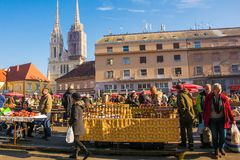 Dolac Market in Central Zagreb stock image