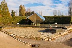 Mirogoj Cemetery Memorial. Zagreb, Croatia - December 30th 2018. A Yugoslavia era war memorial in a Mirogoj Cemetery in the Croatian capital Zagreb commemorating royalty free stock images