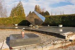 Mirogoj Cemetery Memorial. Zagreb, Croatia - December 30th 2018. A Yugoslavia era war memorial in a Mirogoj Cemetery in the Croatian capital Zagreb commemorating stock photography